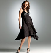 Black maternity dress for special occasion.